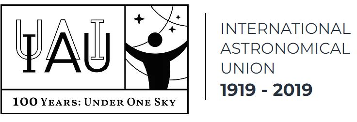 Logo for the 100th anniversary celebrations of the International Astronomical Union